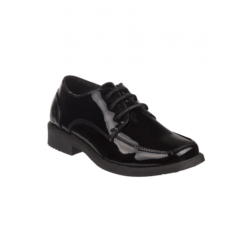 Josmo Boys Black Patent Lace Up Dress Shoes 7 Toddler-6 Kids
