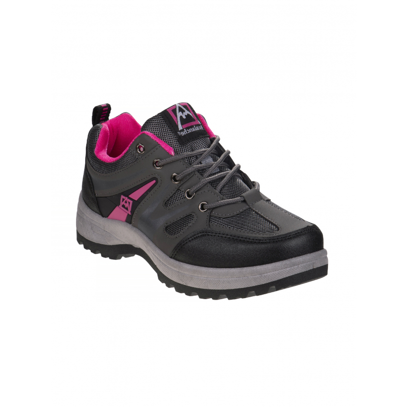 Avalanche Adult Grey Pink Outdoor Lace Up Hiking Sneakers 6-10 Womens