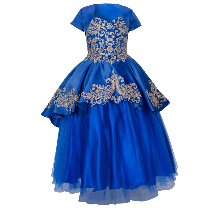 Girls Multi Color Removable A-line Skirt Bolero 3 Pc Pageant Dress Gown 2-16