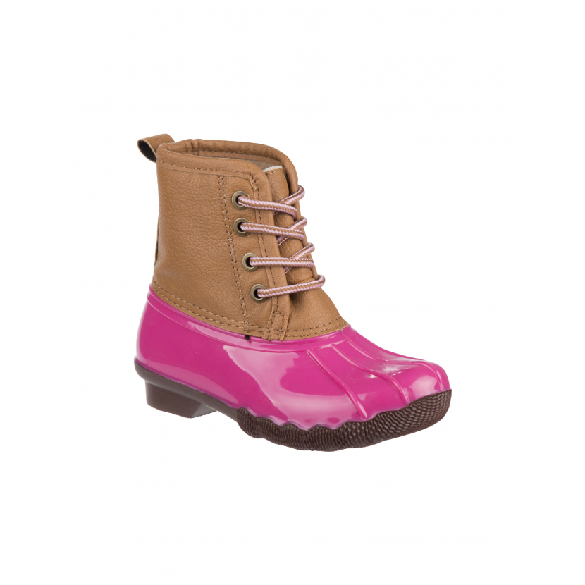 Josmo Girls Multi Color Lace Up Round Toe Duck Boots 11-4 Kids