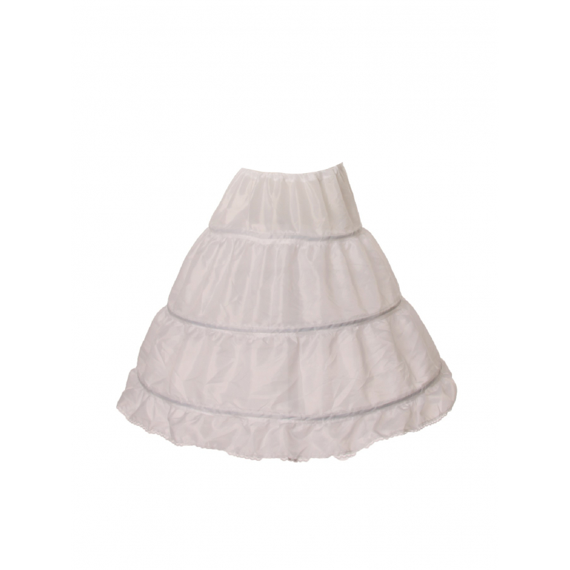 Cinderella Couture Girls White 3 Rings 22 Inches Long Petticoat One Size