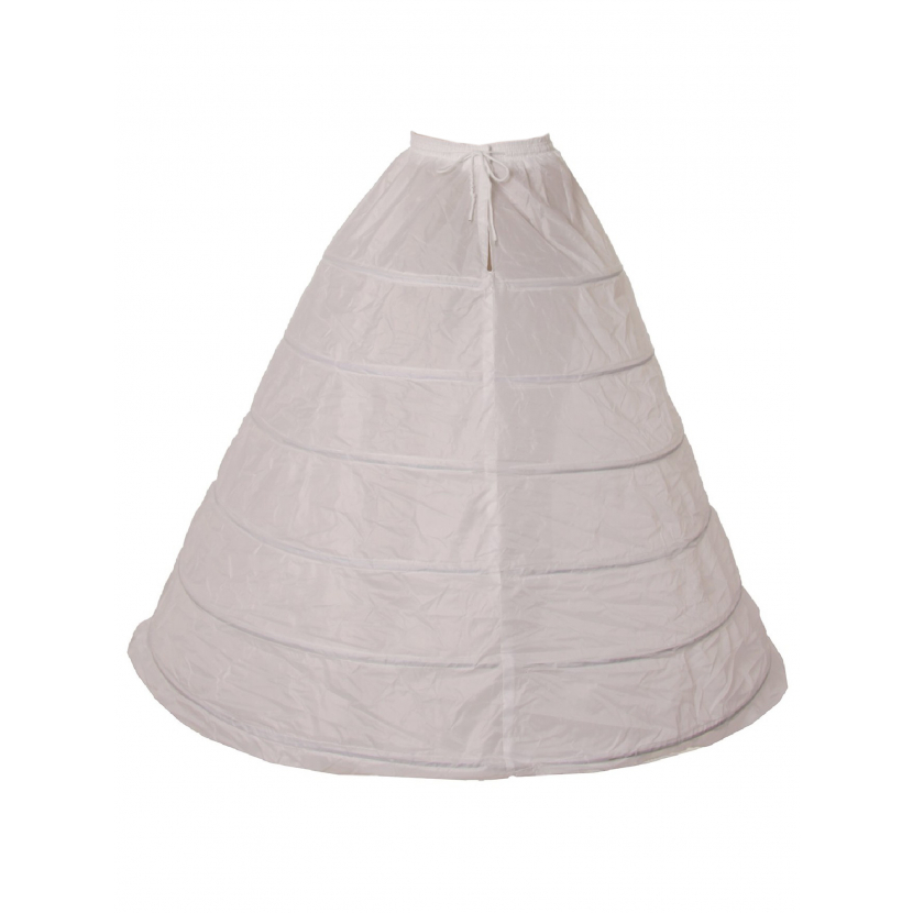 Cinderella Couture Girls White 6 Loops 42 Inches Extra Long Petticoat One Size