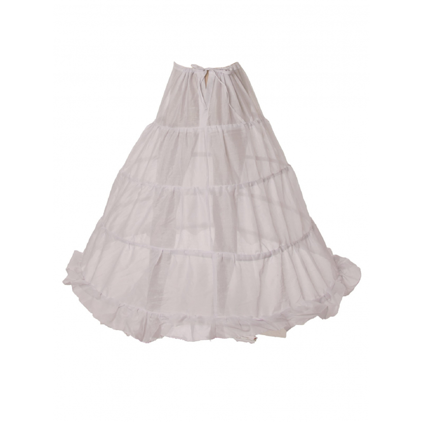 Cinderella Couture Girls White 4 Loops 40 Inches Long Petticoat One Size