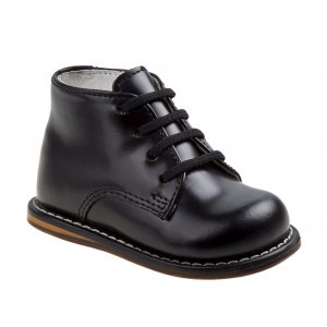 Josmo Unisex Black Hard Sole Cushioned Wide Size Walker Shoes 2-4.5 Baby
