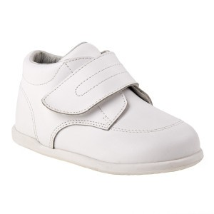 Smart Step Boys White Closure Wide Width Walking Shoes 3 Baby-8 Toddler